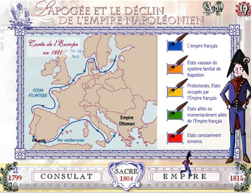 Carte Europe Napoleon.Serious Game Napoleon Bonaparte Du Consulat A L Empire